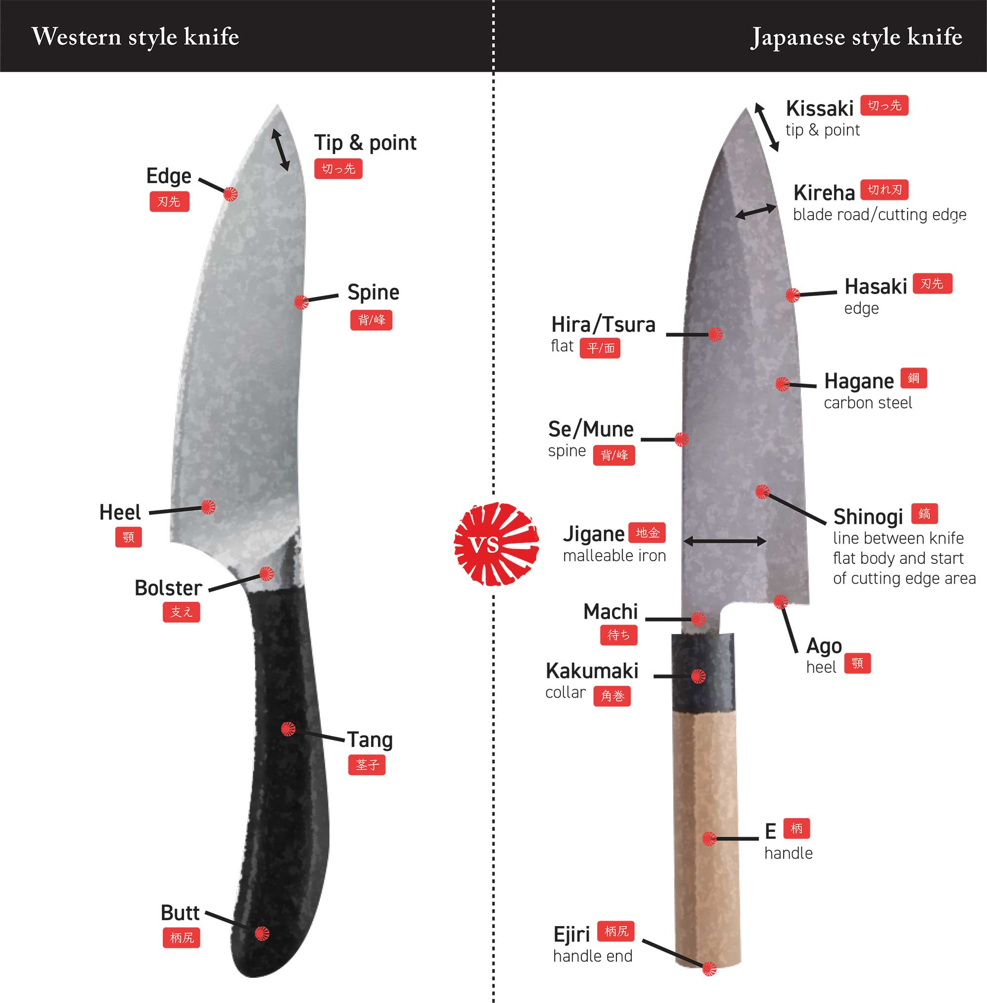 Western vs Japanese Knives | Knives From Japan | Blog